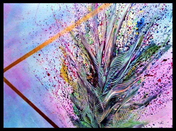 🔴Acryl Abstrakte Blumen Ausschnitt