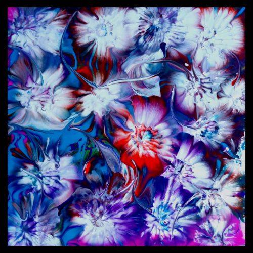 🔴 Acrylic Pouring 20x20 cm