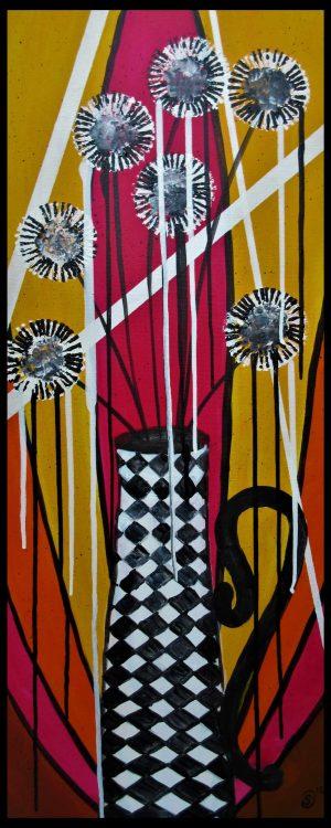 ? Blumenvase PopArt Acryl 100x40