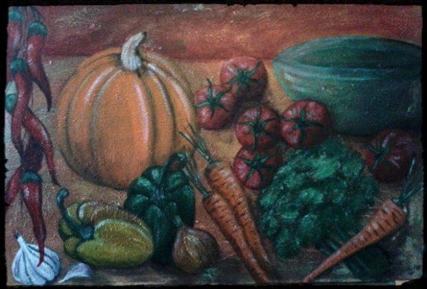 ? Gemüsestillleben Acryl 70x50