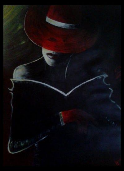 ? lady noire Acryl  80x60
