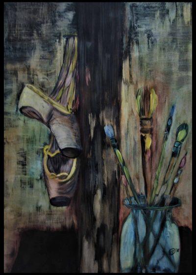 ? Passion Acryl + Ölkreide 70x50