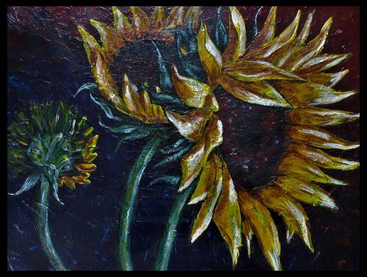 ? Sonnenblumen Acryl 60x50 (nach Original von Lesley Spanos