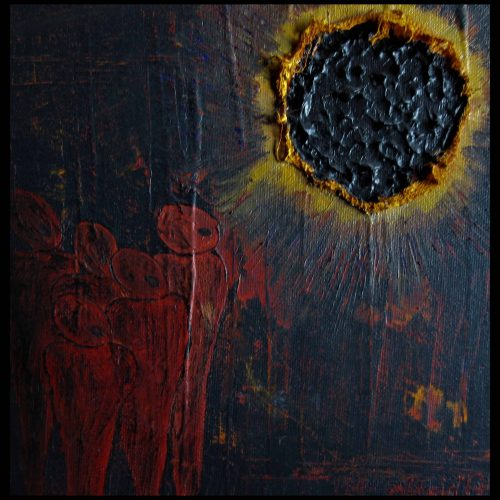 ? Sonnenfinsternis Acryl + Gaze 20x20