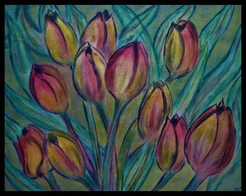 ? Tulpen Ölkreide 50x40